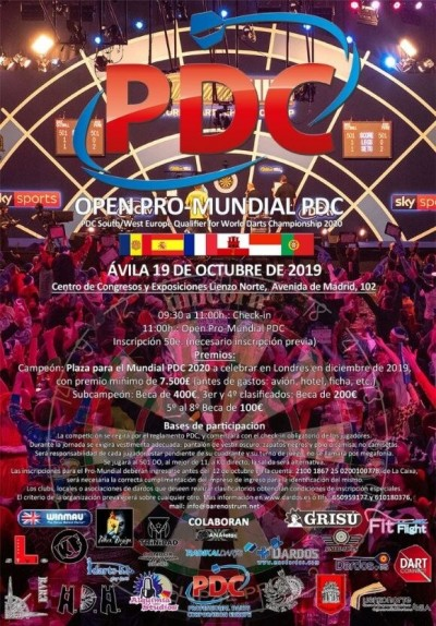Open ProMundial PDC Ávila 2019 / PDC South/West Europe Qualifier for World Darts Championship 2020